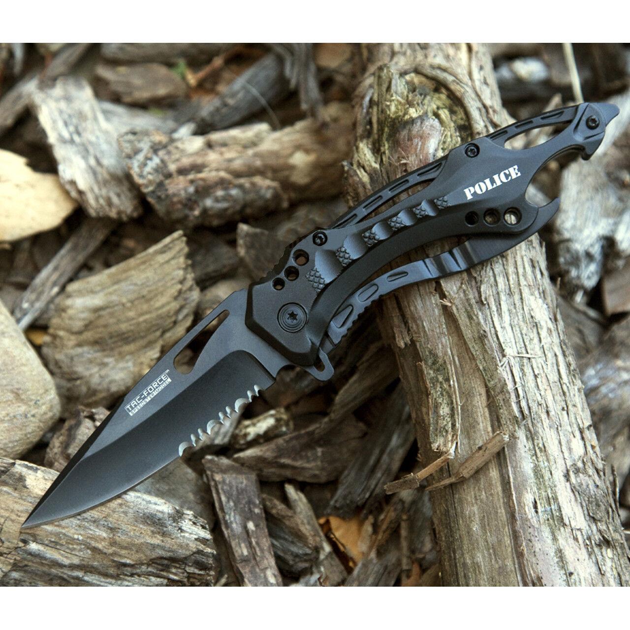 "8"" TACTICAL TAC FORCE POLICE SPRING ASSISTED TACTICAL FOLDING KNIFE Blade Pocket"