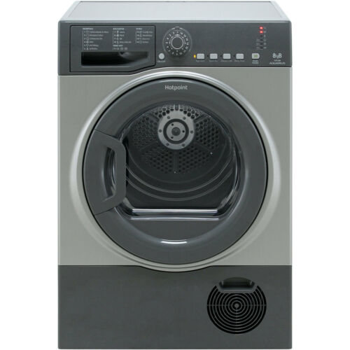 Hotpoint TCFS83BGG B Rated 8Kg Condenser Tumble Dryer Graphite