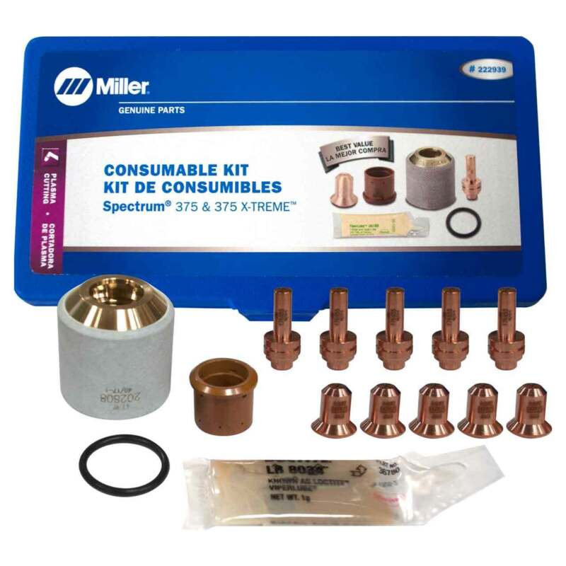 Miller 222939 Plasma Cutter Consumable Kit ICE- 27C/27T