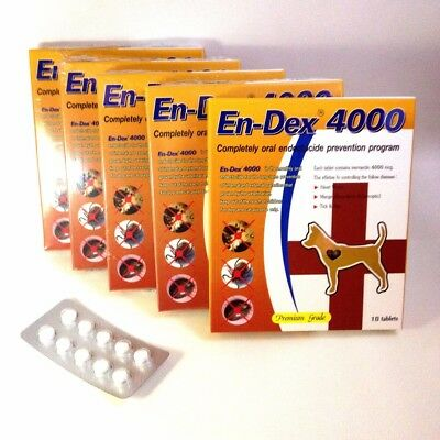 Pet Tablet Pill EnDex4000 Remove Prevent Ticks and Fleas for Dogs Cats (1 Pack)