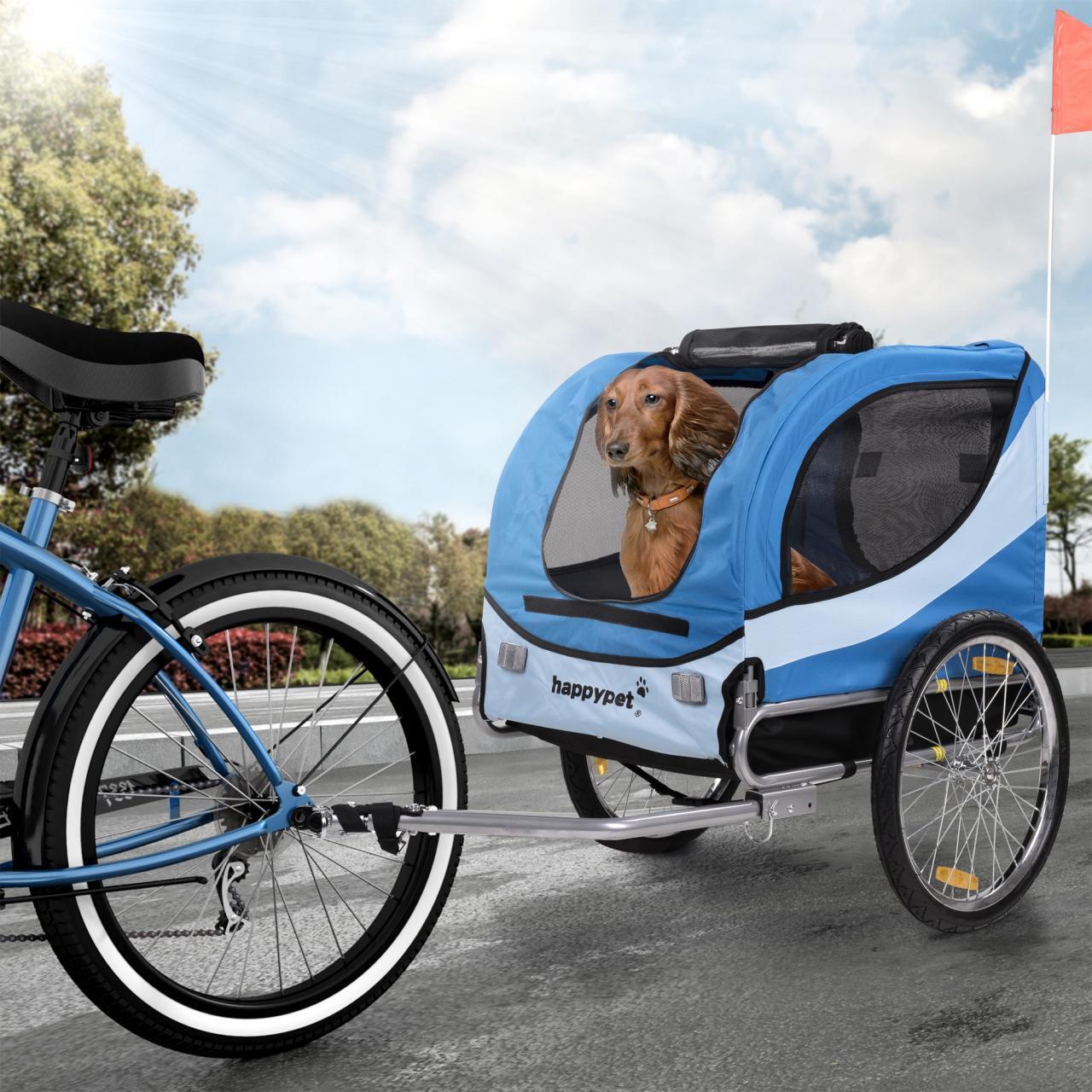 happypet hunde fahrrad anh nger m hundetransporter. Black Bedroom Furniture Sets. Home Design Ideas