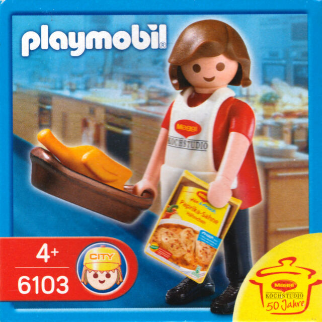 Playmobil 6103 Special Figure - 50 Years of Maggi Kochstudio - | eBay | {Maggi kochstudio 72}