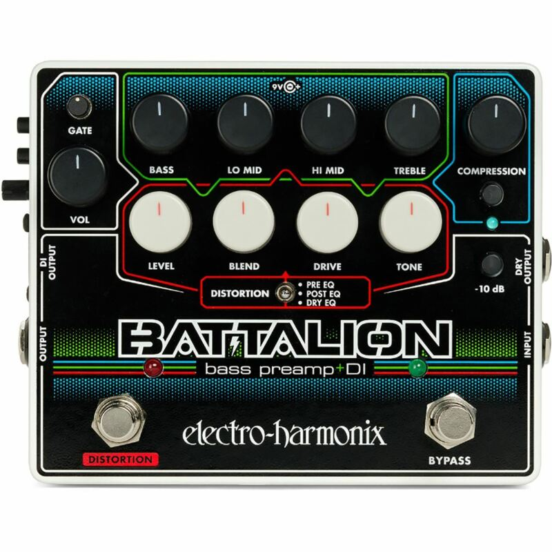 Electro-Harmonix BATTALION Bass Preamp and DI Effects Pedal