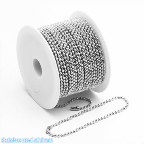 Wholesale In Bulk Stainless Steel Lot DIY Ball Chain Necklac