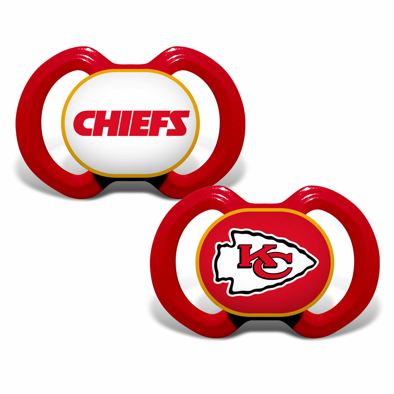NFL Kansas City Chiefs Baby Fanatic 2-Piece Pacifier Set