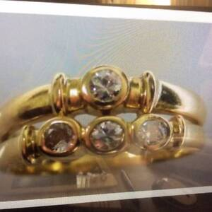 Ladies 18ct Yellow Gold Diamond Bezel Set Rings Image 1 of 5 Matraville Eastern Suburbs Preview
