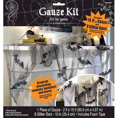 Glitter Bat & Gauze Kit Halloween Party Decorations