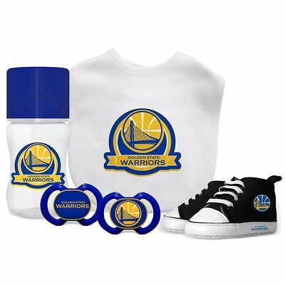 NBA Baby Fanatic Golden State Warriors Baby Essentials 5 Piece Infant Gift Set