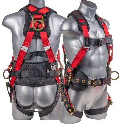 Fall Protection Full Body 5 Point Harness 3d Ring With Quick Connect Buckle