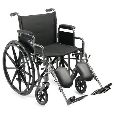 "Probasics Lightweight 20"" Lightweight Folding Wheelchair with Elevating Legrests"