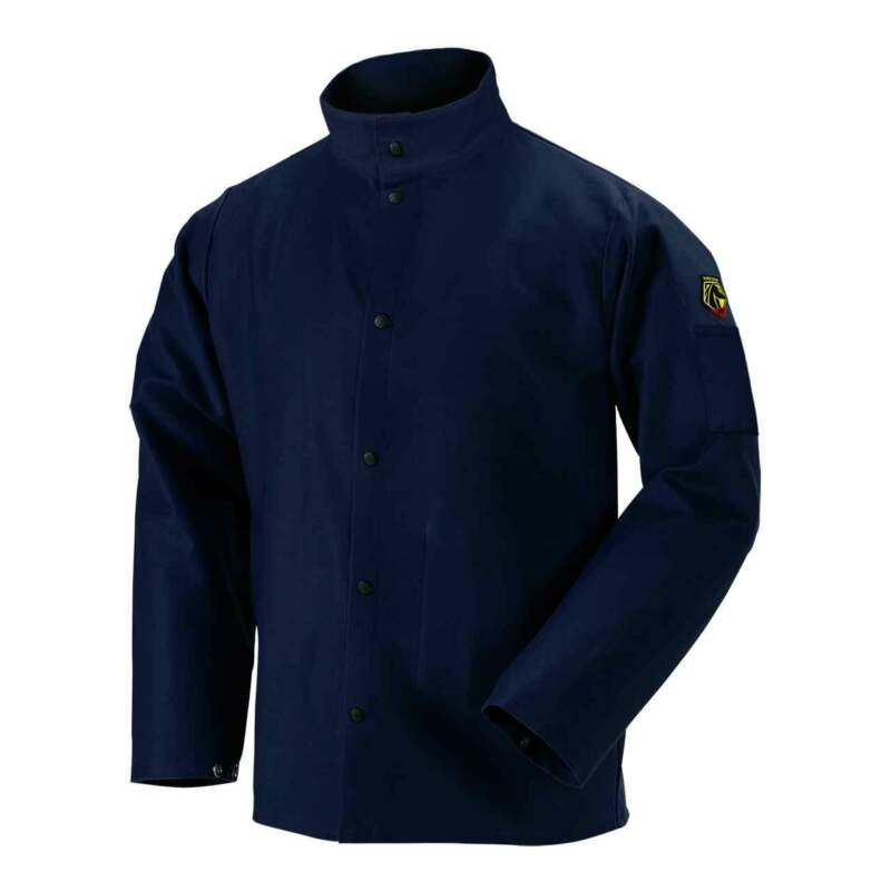 Black Stallion FN9-30C TruGuard 200 FR Cotton Welding Jacket Navy 3X-Large