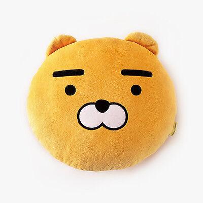 KAKAO FRIENDS Character Face Plush Cushion Pillow RYAN Official Goods