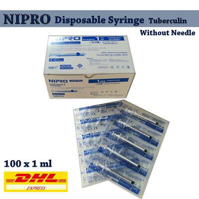 Nipro Disposable Sterile Syringe Tuberculin No Needles Hygienic No Toxic 1ccx100
