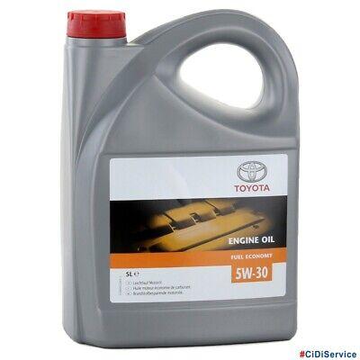 5 Litri Olio Motore Originale Toyota 100% Sintetico 5W30 FE Acea A1/B1 A5/B5