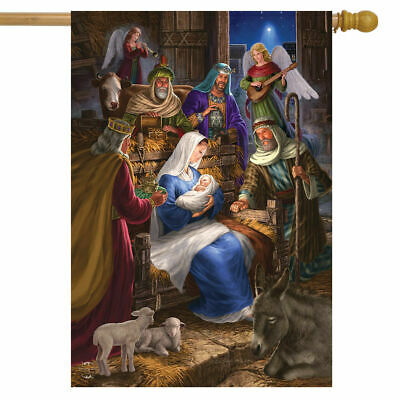 #119 HOLY FAMILY RELIGIOUS NATIVITY CHRISTMAS   HOUSE FLAG 2