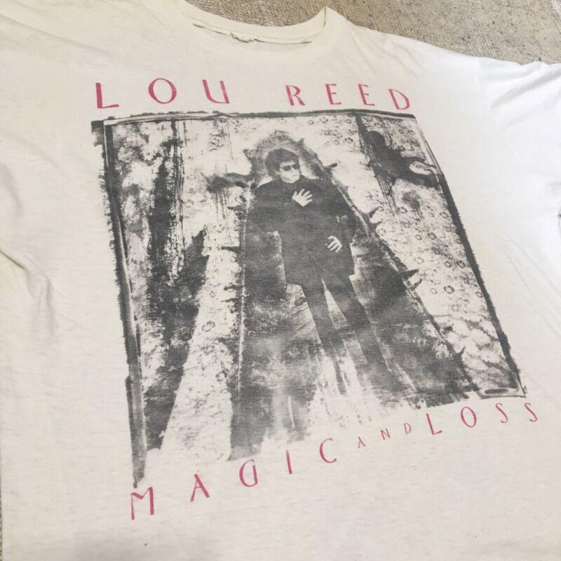 Vtg 1992 Lou Reed Magic & Loss European Tour T-Shirt XL Thin Velvet Underground