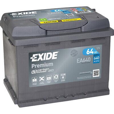 EXIDE EA640 PREMIUM Autobatterie Batterie Starterbatterie 12V 64Ah EN640A