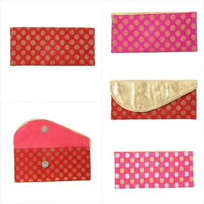 - Cotton Multi-color Handmade Embroidery Bag Greeting Card Gift Envelopes