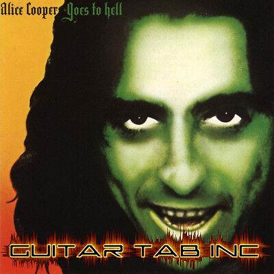 Alice Cooper Digital Guitar /& Bass Tab BILLION DOLLAR BABIES PDF Lessons on Disc