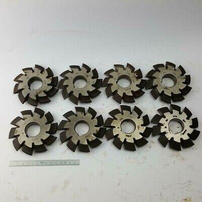 Involute Gear Cutter Set M6 Pa20 Hss M2 1-8 Spline Modulfrser Satz
