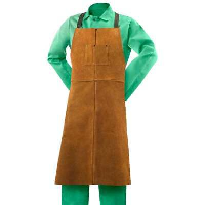 Steiner 92166 24w X 42l Leather Bib Apron With Adjustable Crossed Back