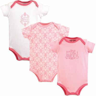 Luvable Friends Girl Bodysuits, 3-Pack, Pretty In Pink