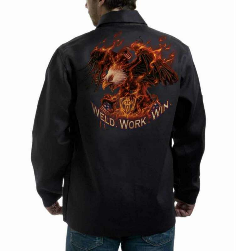 "Tillman 9063 30"" 9 oz. ONYX FR Cotton Jacket ""Weld.Work.Win"" Logo X-Large"
