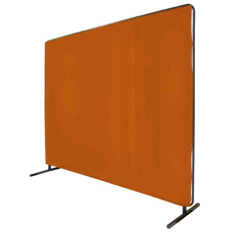 Black Stallion 6X8VF1-ORA 6x8 ft Orange Saf-Vu Welding Screen with Frame
