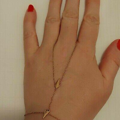 Maria Black Rose Gold Plated Silver Hand Jewellery Bracelet Ring BNIB Harness