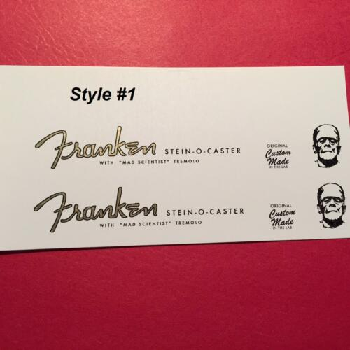 2 Franken stein 0 caster waterslide guitar headstock decals 3 style choices