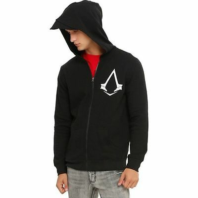 Assassins Creed Syndicated Logo Hoodie Edward Kenway  With Hood Size Large