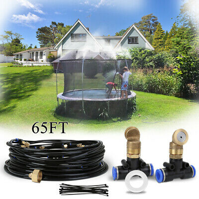 20M Water Mister Nozzles Misting System 15FT Trampoline Patio Garden Outdoor