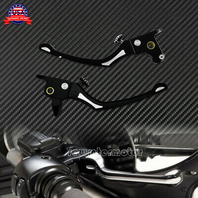 Black Brake Clutch Levers Fit For Harley Touring Electra Glide CVO FLTRX 14-16