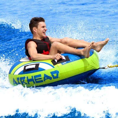 Airhead Hydro Boost Rider Inflatable Water Towable Tube Boat Sportsstuff Lake Gr