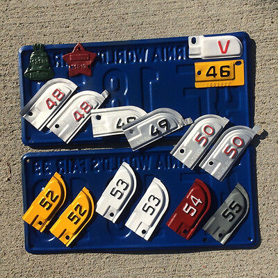 1955 California license plate tab YOM DMV car truck trailer FREE SHIPPING for sale  Shipping to Canada