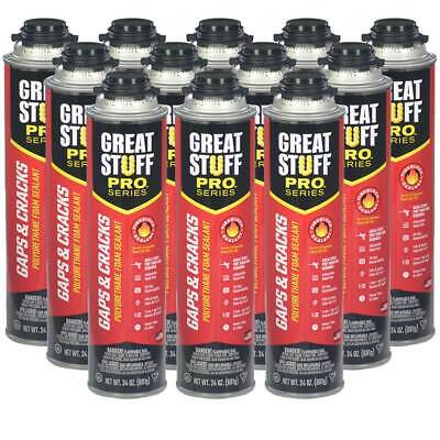 Dow Great Stuff Pro Gaps And Cracks 24 Oz Cans Case Of 12 Cans