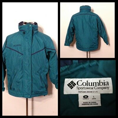 Columbia 3 in 1 Mantel Damen Med.teal,Doppelseitig Zipout Liner Jacke Inv #S9327 ()