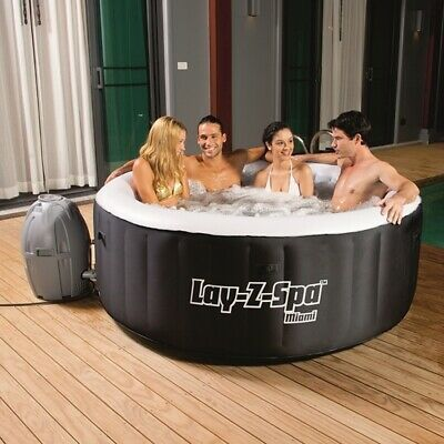 💦 Lay Z Spa Lazy Spa Miami Airjet 81 Jets Brand New Hot Tub FREE DELIVERY 🚚