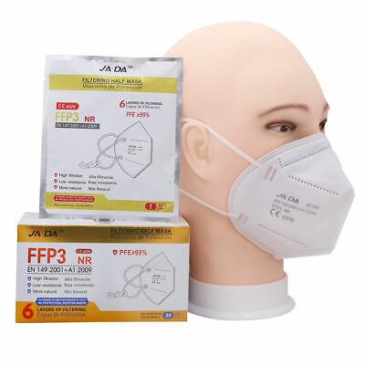 10 Stck FFP3 NR EN149:2001 Atemschutz Mundschutzmaske einzeln verpackt >=99%