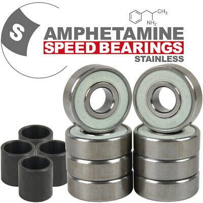 AMPHETAMINE Stainless Bearings Kugellager für Skateboard/Longboard