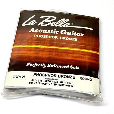 La Bella USA Phosphor Bronze 12-string Light Acoustic Guitar Strings (La Bella Guitar)