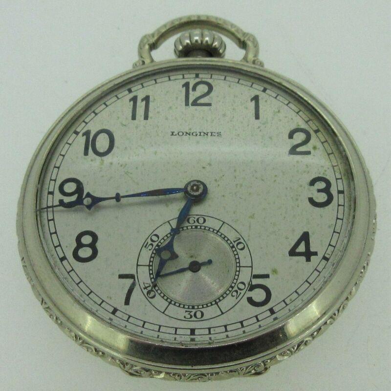 Antique Longines 18.89 Swiss 12s 17J 10k Gold Filled Pocket Watch