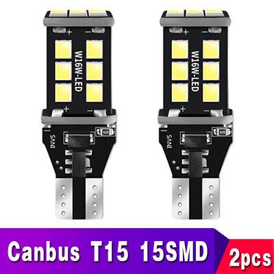 2X T15 LED Back Up Reverse Light Bulbs 6000K Xenon White Error Free W16W 921 912