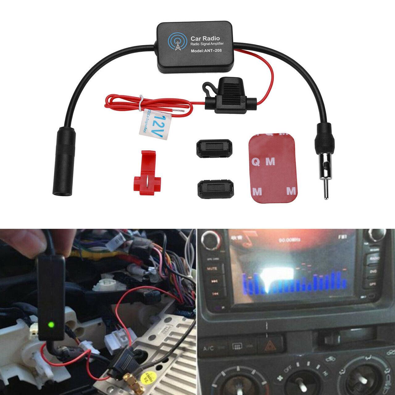 Adapter Universe 20 dB Antennenverst/ärker AM//FM Signal Verst/ärker 12 V Autoradio KFZ Antenne f/ür Universal