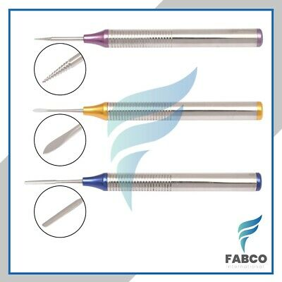 Flex Periotome Root Extraction Screw Set Of 3 Color Dental Root Extraction Inst