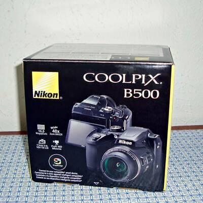 NEW NIKON COOLPIX B500 16.0MP DIGITAL CAMERA - BLACK