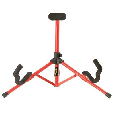 Fender Tubular Acoustic and Electric Guitar Mini Stand, Red (0991806000)