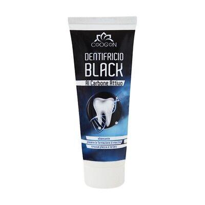 DENTIFRICIO BLACK AL CARBONE ATTIVO SBIANCANTE 75 gr chogan