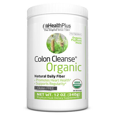 Health Plus ORGANIC COLON CLEANSE Powder 12 oz, 56 Serves for REGULARITY, HEART Health Plus Cleanse Heart