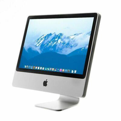 """Fast Apple iMac 20"""" A1224 All In One Desktop 320GB HDD 4GB RAM EI caption Office"""